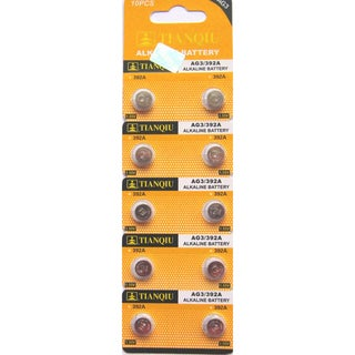 Tianqiu AG3/LR41 Button Cell Alkaline Battery (Pack of 10)