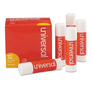 Universal .74 oz Clear Permanent Glue Sticks (Pack of 3)