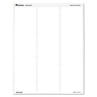 Universal Inkjet Printer Labels 2-5/8 x 1 Clear