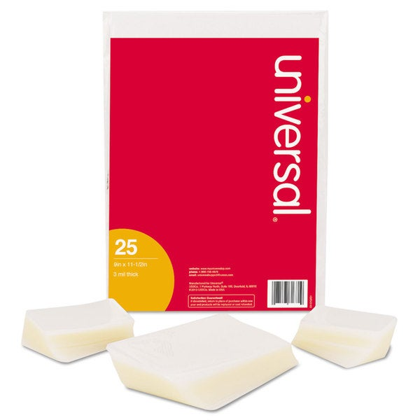 Universal 9 x 14.5 Clear Laminating Pouches (Pack of 25)