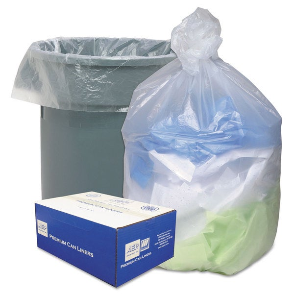 Ultra Plus High Density Can Liners, 40-45gal, 12 mic, 40 x 48, Natural, 250/Carton