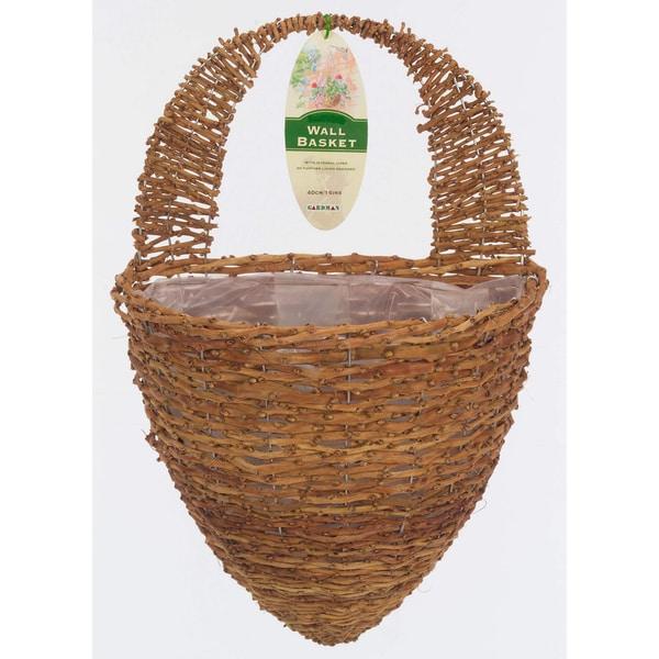 Gardman Rustic Rattan Half Hive Wall Basket