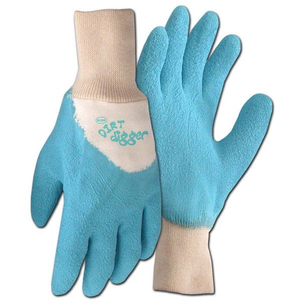Boss Co Dirt Digger Glove Blue Medium (Pack of 6)
