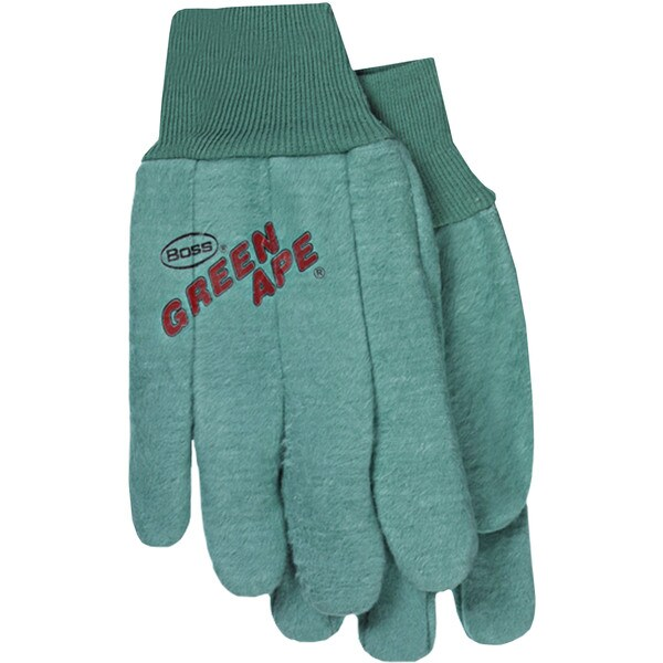 Boss Co 2-ply Chore Glove Green Large (Pack of 12)