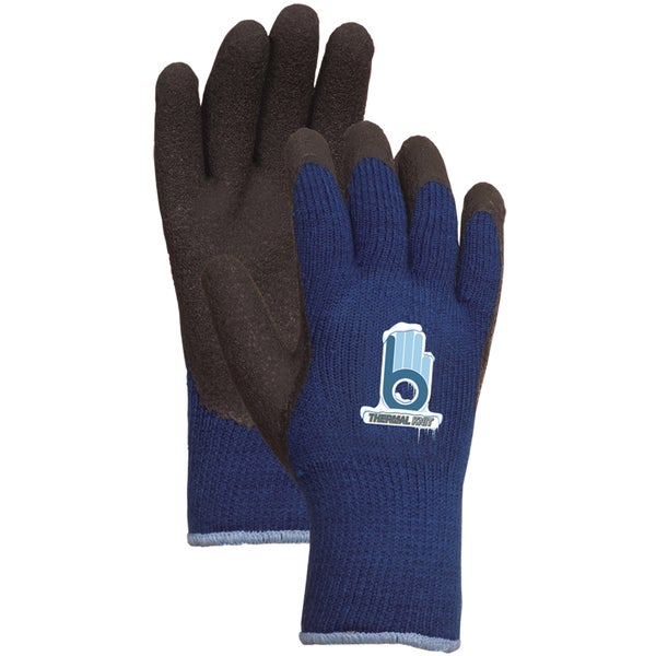Atlas Glove C4005L Blue Thermal Knit with Rubber