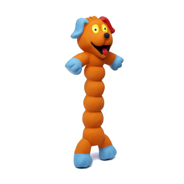 Charming Pet Products Zonkers Small Orange Dog Chew Toy