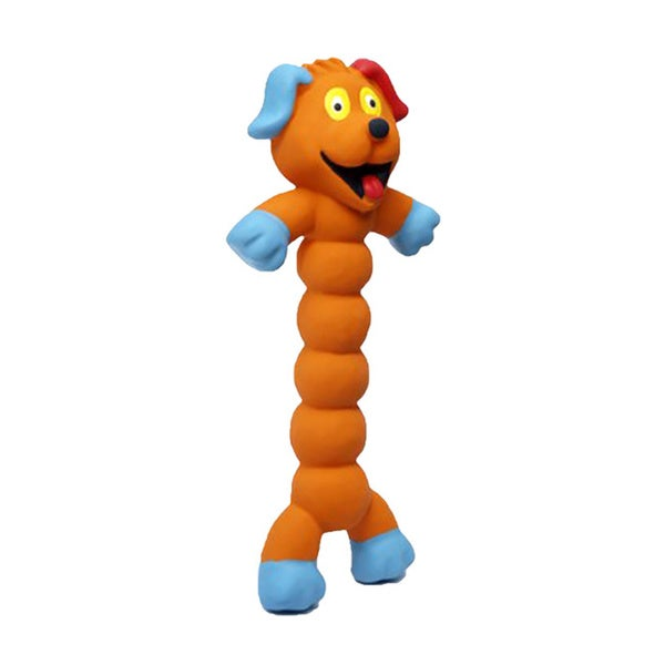 Charming Pet Products Zonkers Large Orange Dog Chew Toy