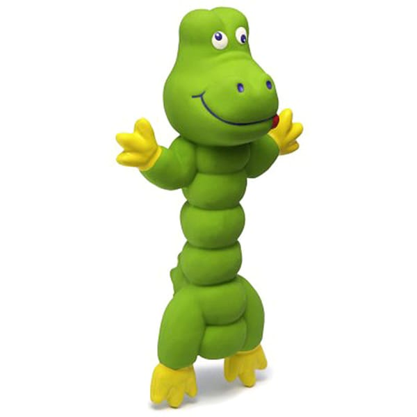 Charming Pet Products Zonkers Small Green Gator Chew Toy