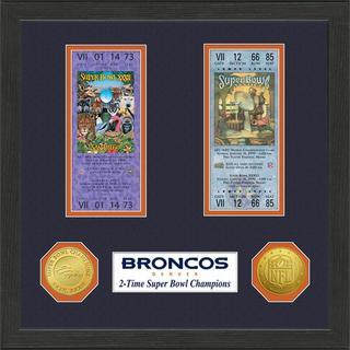 Denver Broncos NFL SB Ticket/Game Coin Frame