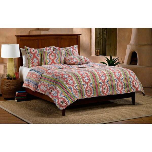 Dynasty Cotton 3-piece Quilt Set