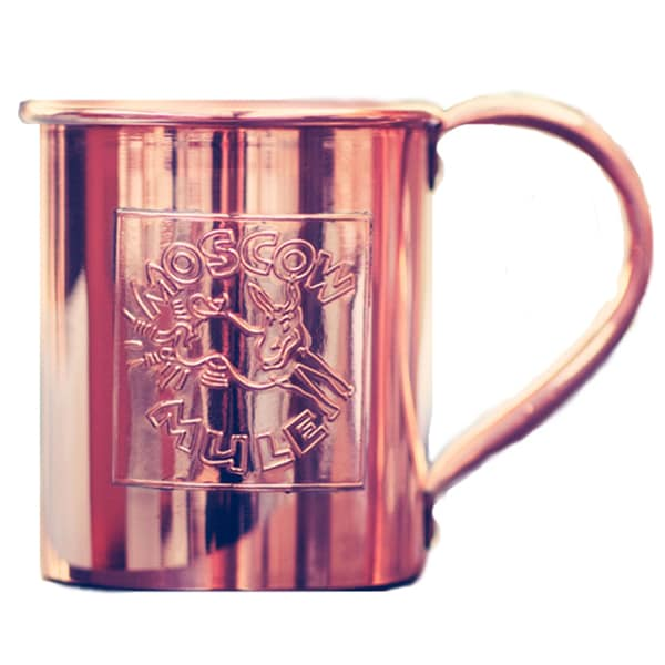 Paykoc 24oz Solid Copper Embossed Moscow Mule Mugs, Set of 4