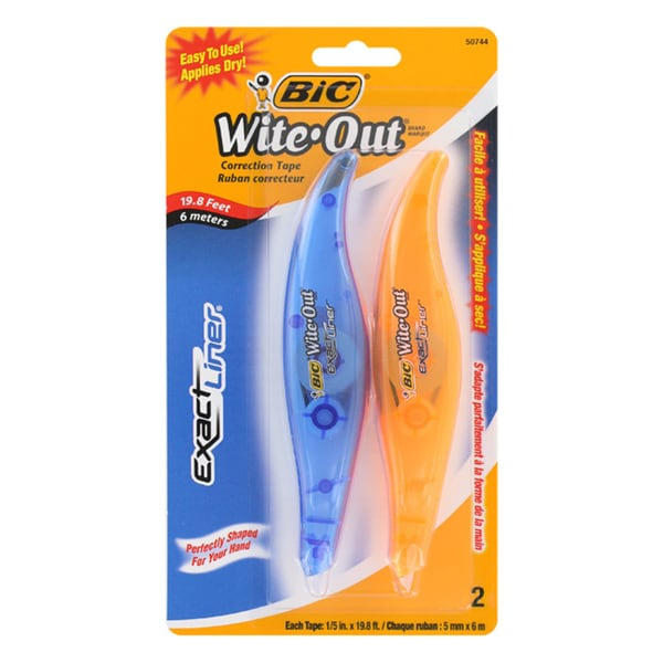 BIC Wite-Out Exact Liner White Correction Tape Pen (Set of 6)