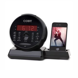 Coby CSMP121 Clock Radio iPod/iPhone Docking Speaker System