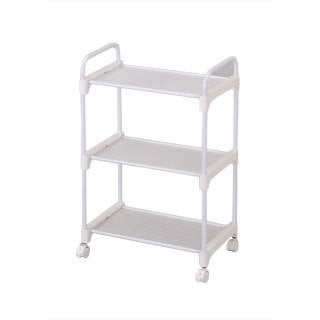 Stainless Steel White 3-tier Utility Cart