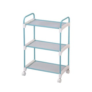 Stainless Steel Light Blue 3-tier Utility Cart