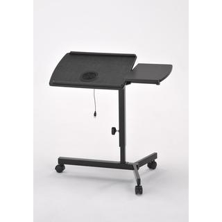 Casual Matte Black 1.6-foot Adjustable Laptop Desk