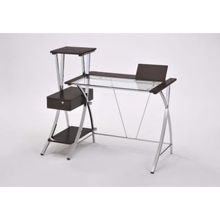 Modern Dark Natural Brown 5.6-foot Computer Desk Set