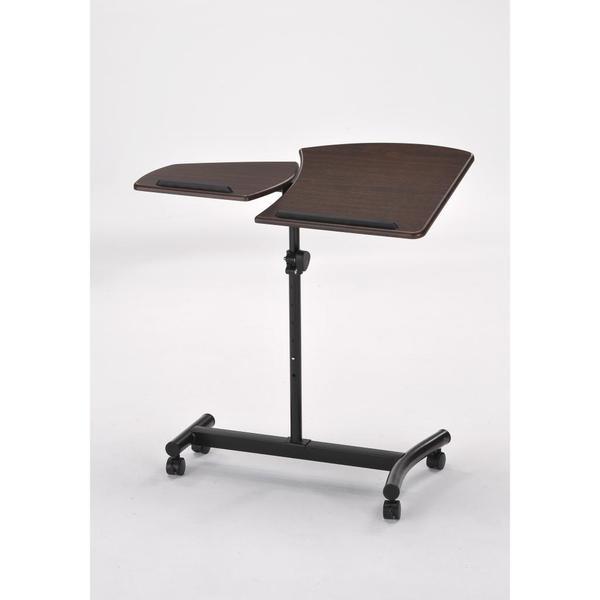 Casual Dark Brown 1.4-foot Adjustable Laptop Desk