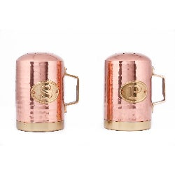 Old Dutch Decor Copper Hammered Stovetop Salt and Pepper Set