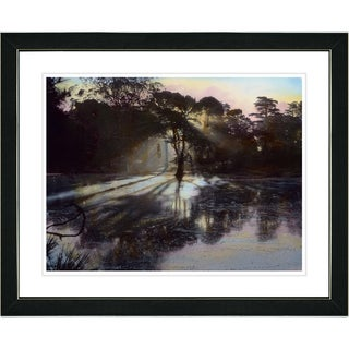 Studio Works Modern 'Lake' Framed and Matted Giclee Art Print