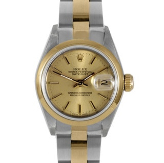 Pre-owned Rolex Women's Two-tone Steel Datejust Watch