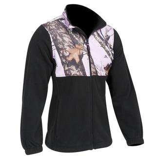 Yukon Gear Ladies Casual Fleece Jacket Mossy Oak Pink
