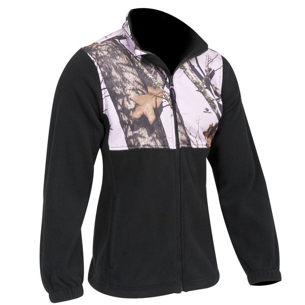 Yukon Gear Ladies Casual Fleece Jacket Mossy Oak Pink