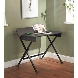 Simple Living Black Computer Desk with Back Shelf