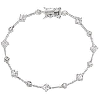 Tressa Sterling Silver Cubic Zirconia Tennis Bracelet