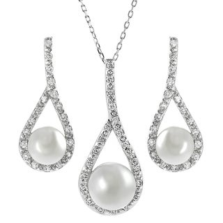 Tressa Collection Sterling Silver Cubic Zirconia Jewelry Set