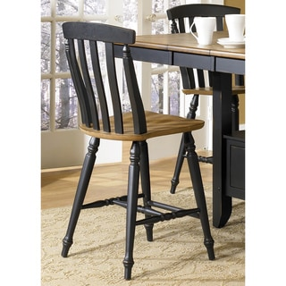 Liberty Al Fresco II Casual Slat Back 24-inch Bar Stools (Set of 2)