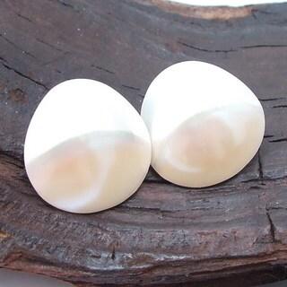 Serene Glow Heart of Nautilus Shell Post Earrings (Philippines)