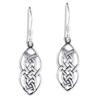 Nice Celtic Drop Sterling Silver Dangle Earrings (Thailand)