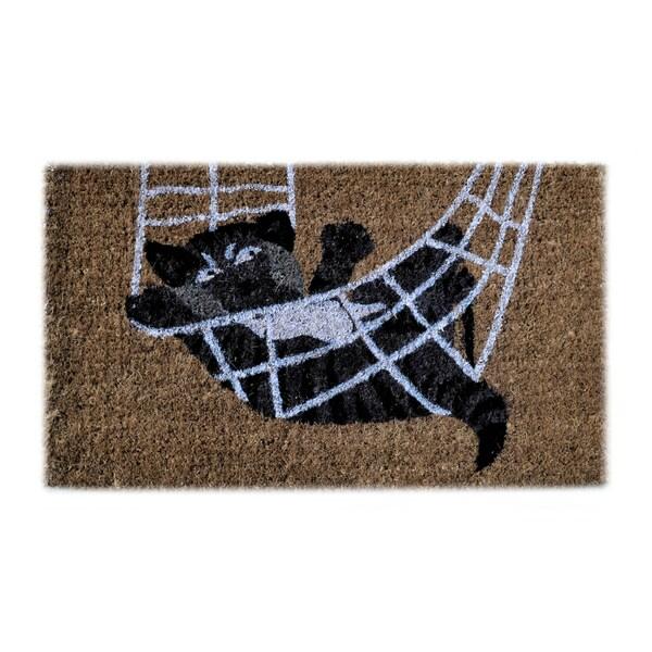 Cat In the Rope Brown Coir Door Mat (2'6 x 1'6)