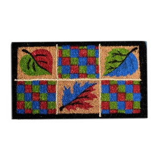 Leaves Multi Coir Door Mat (2'6 x 1'6)