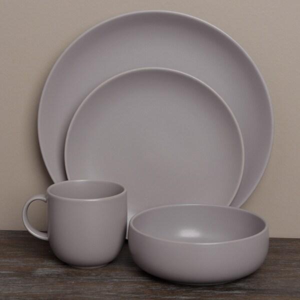 Royal Doulton Mode Grey Porcelain 4-piece Place Setting