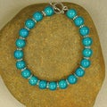 Jewelry by Dawn Bright Turquoise Glow Bead Bracelet
