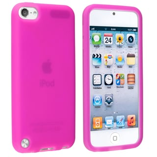 Insten Hot Pink Soft Silicone Skin Rubber Case Cover For Apple iPod Touch 5th/ 6th Gen