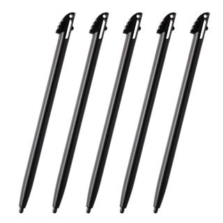 BasAcc Black Stylus for Nintendo 3DS XL (Pack of 5)