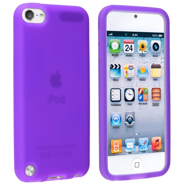 Insten Purple Soft Silicone Skin Rubber Case Cover For Apple iPod Touch 5th/ 6th Gen