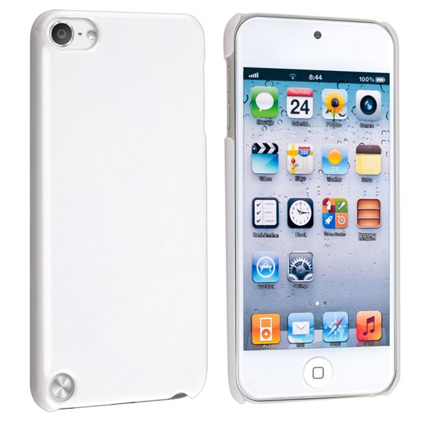 Insten White Hard Snap-on Glossy Case Cover For Apple iPod Touch 5th/ 6th Gen