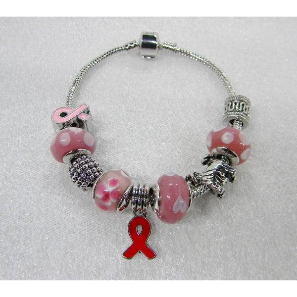 Cancer Awarness Charm Bracelet