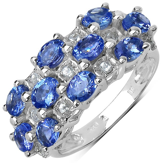 Malaika Sterling Silver Oval-cut Tanzanite and White Topaz Ring at Sears.com