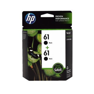 HP 61 Black Ink Cartridges (Pack of 2)