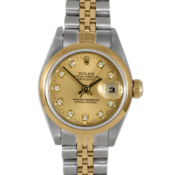 Pre-Owned Rolex Women's Two-Tone Steel Datejust Watch with Champagne Dial