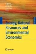 Energy, Natural Resources and Environmental Economics (Paperback)