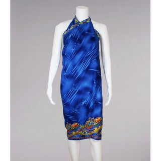 Bright Blue Sarong with Easy Tie Straps