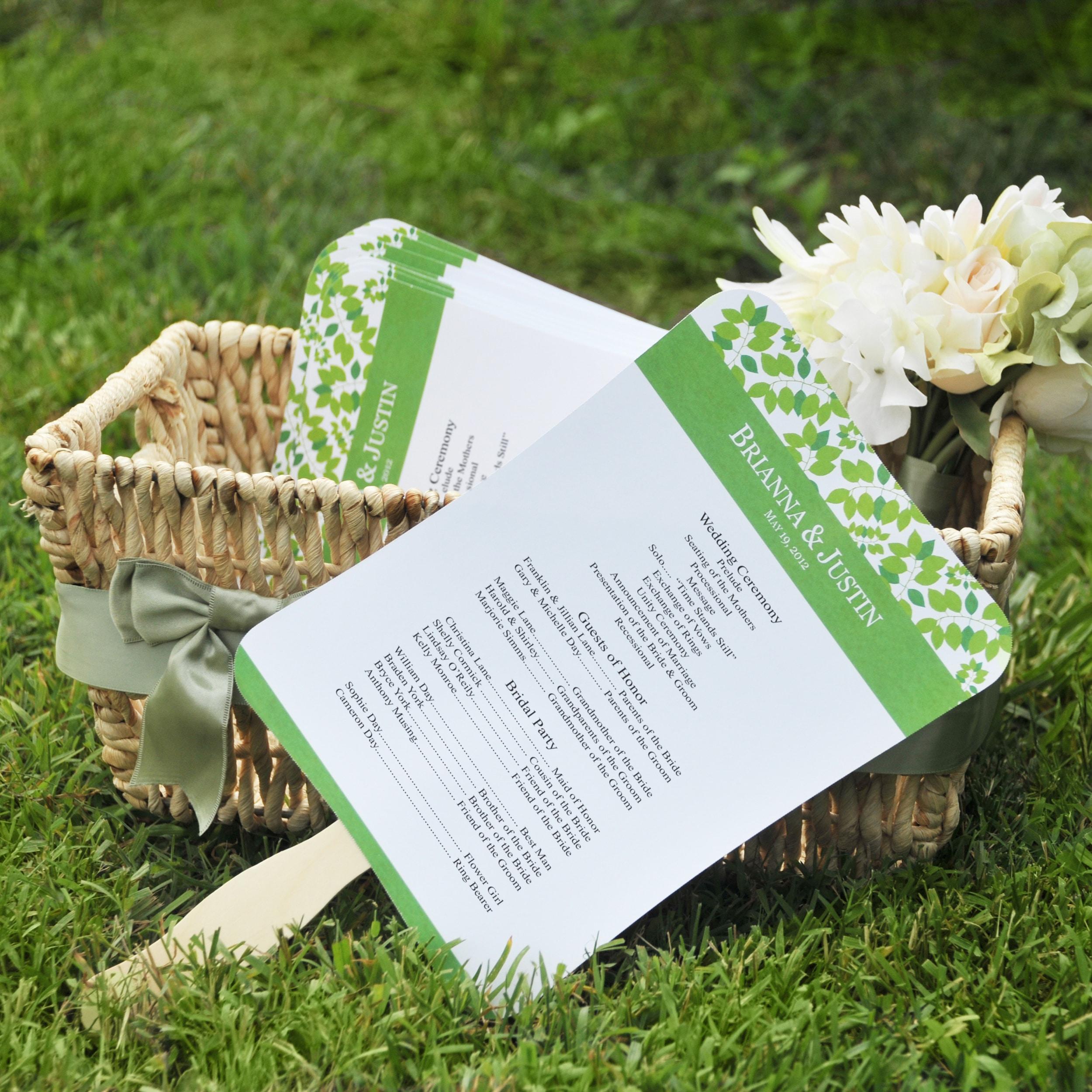 new diy designer fan program paper kit bride shower wedding bridal