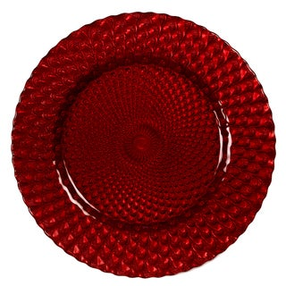 IMPULSE! 'Sorrento' Red Charger 4-piece Plate Set