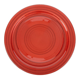 Impulse! 'Dot' 4-piece Red Charger Plate Set